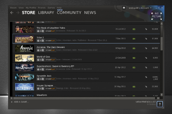 Valve's Steam has become the iTunes of the game world.